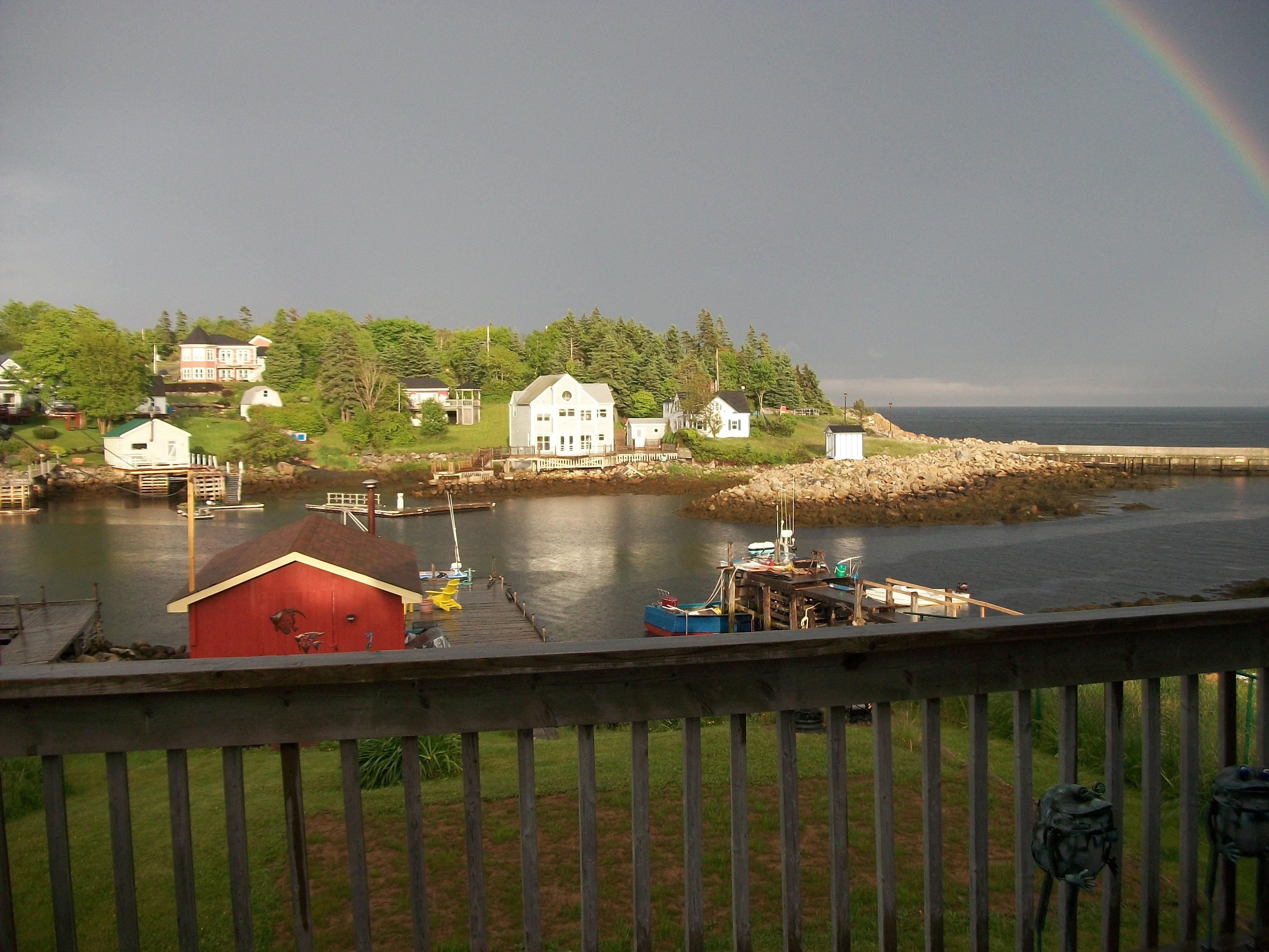 click to see a larger image of our fishing village...